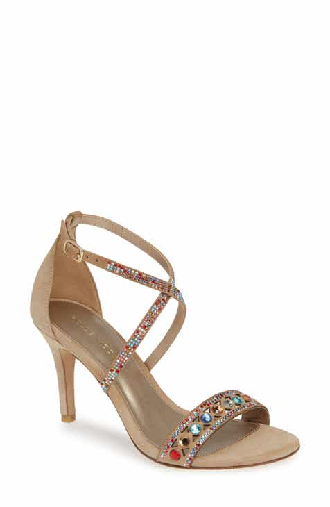 35767c4319d Pelle Moda Rory Crystal Embellished Sandal (Women).  169.95. Product Image.  BLACK NUBUCK LEATHER