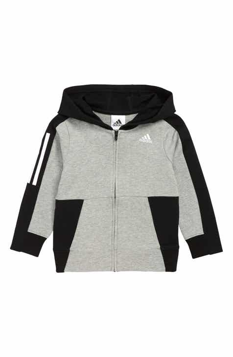 a9ab1ca1f331 adidas Transitional Full Zip Hoodie (Toddler Boys   Little Boys)
