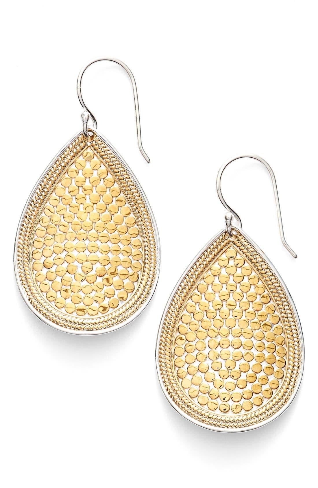 Gili Teardrop Earrings,                             Main thumbnail 1, color,                             Gold/ Silver