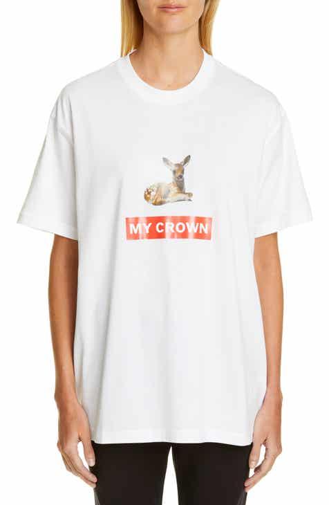 Burberry Carrick Deer Graphic Tee