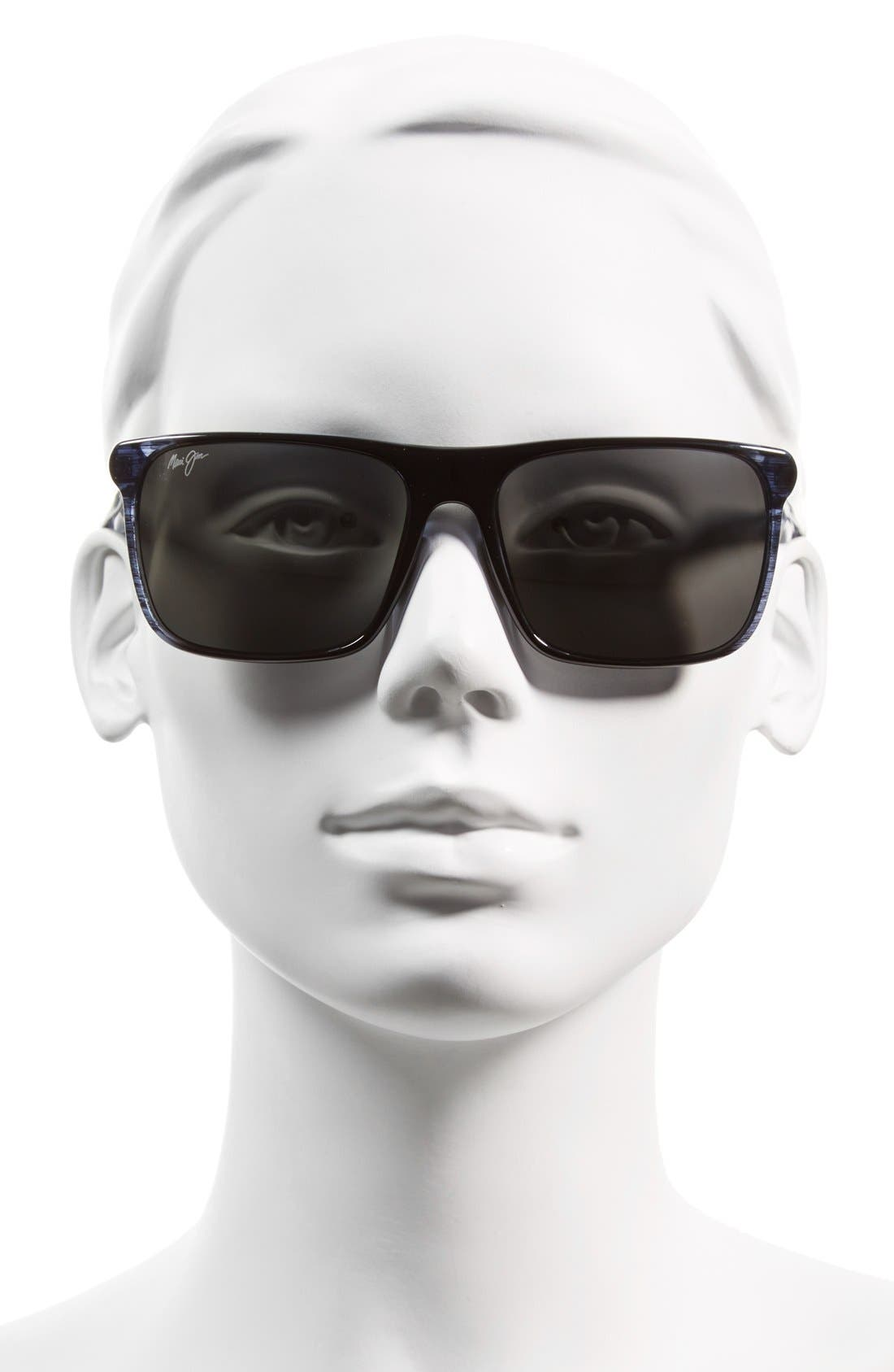 Flat Island 58mm PolarizedPlus<sup>®</sup> Sunglasses,                             Alternate thumbnail 2, color,                             Blue Stripe/ Neutral Grey