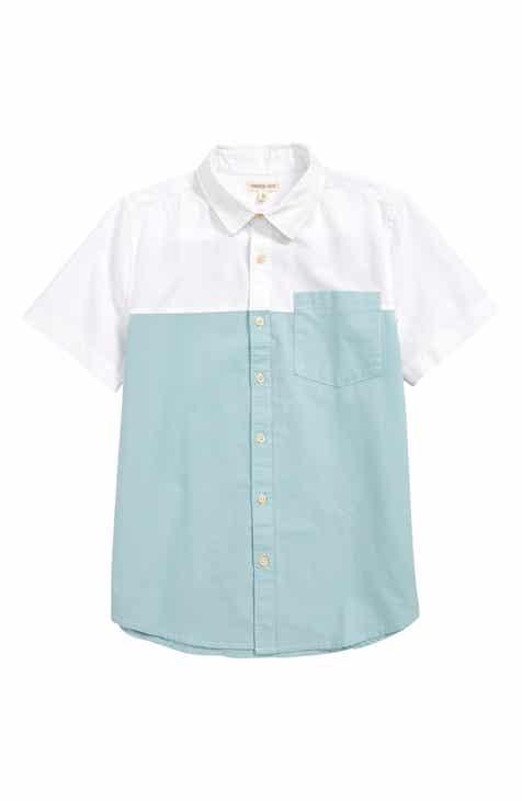 0b308c69f Tucker + Tate Pop It Colorblock Woven Shirt (Little Boys & Big Boys)