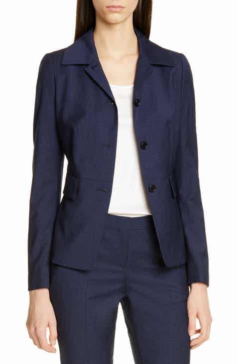 BOSS Jarera Wool Small Check Jacket (Regular & Petite) by BOSS HUGO BOSS