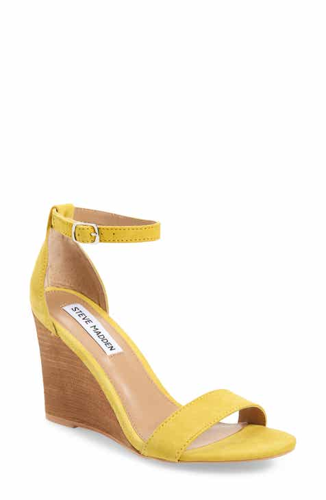 97848757a41 Steve Madden Mary Ankle Strap Wedge (Women)