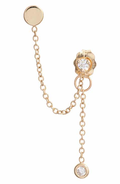 80286c8abae Zoë Chicco Itty Bitty Single Diamond Earring Chain