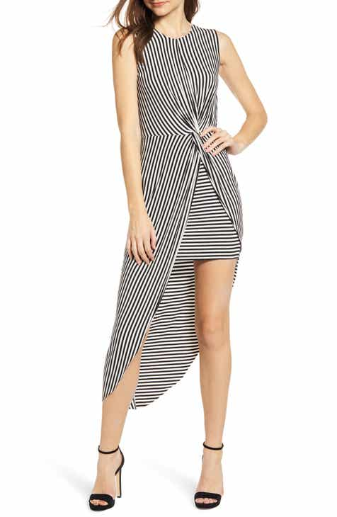 74c659693aa Bailey 44 Stripe Asymmetrical Dress