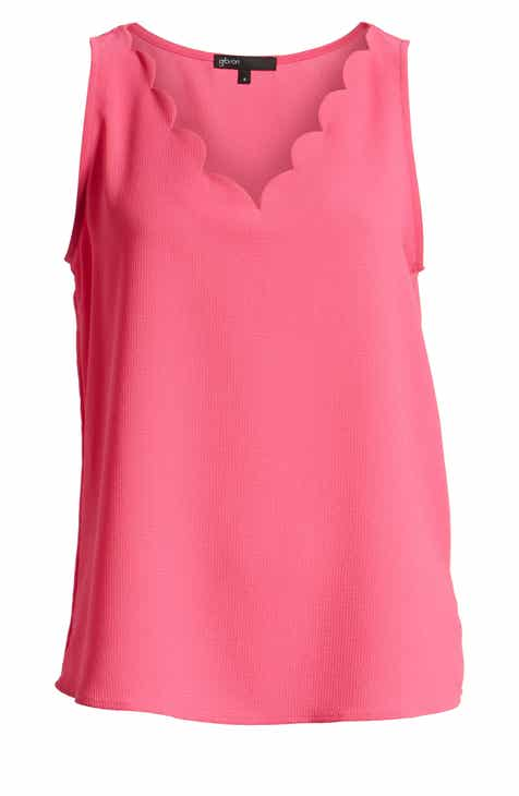 831ac27c68470 Gibson x Living in Yellow Savannah Scalloped V-Neck Tank (Regular   Petite)  (Nordstrom Exclusive).  56.00. Product Image. LIGHT PETUNIA PINK