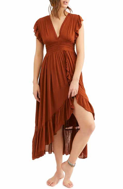 7ed68f62fdaf4 Free People Ada Flutter Sleeve High Low Dress
