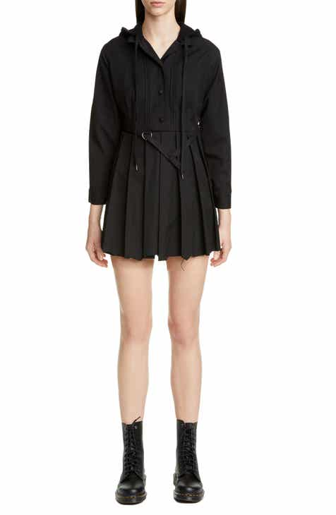 Vetements Distressed Hooded School Minidress