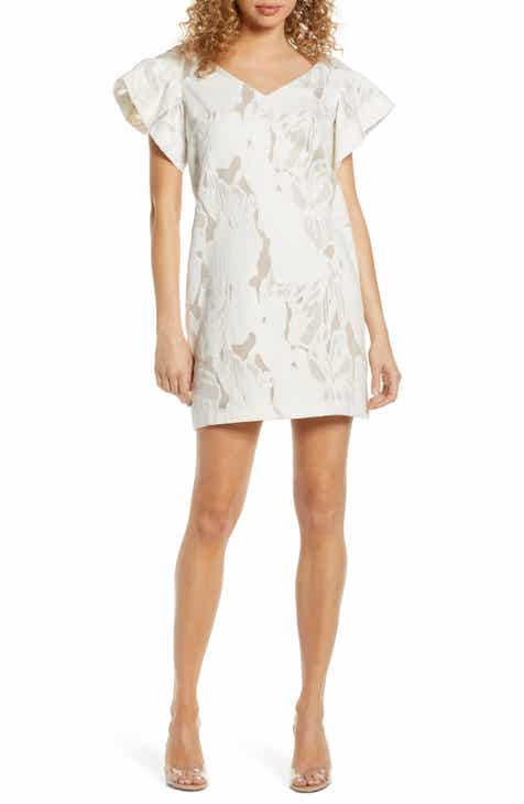 Adelyn Rae Tessie Floral Print Asymmetrical Chiffon Dress by ADELYN RAE