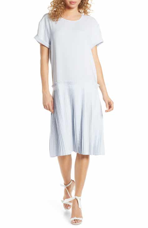 Madewell Texture & Thread Stripe Cap Sleeve Dress by MADEWELL