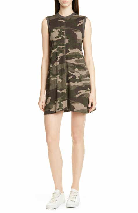 2c34bc104d12 ATM Anthony Thomas Melillo Camo Print Slub Jersey Tank Dress