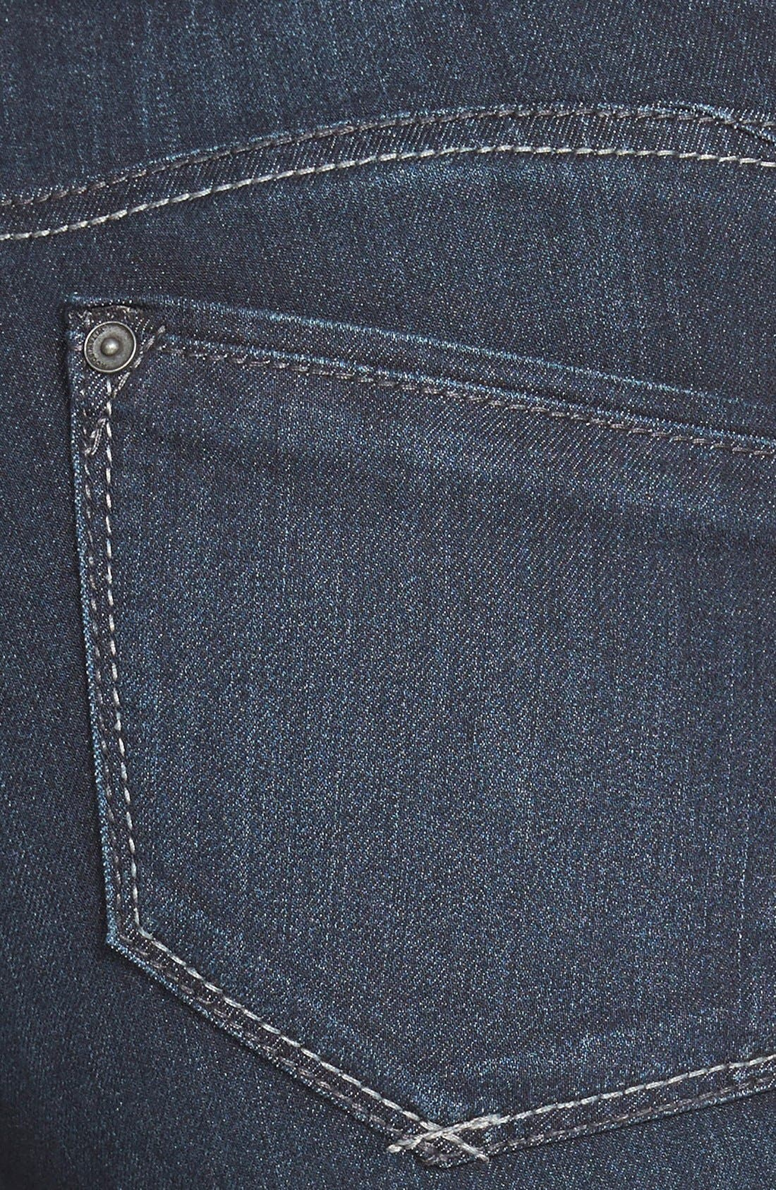 Super Smooth Stretch Denim Skinny Jeans,                             Alternate thumbnail 4, color,                             Dark Navy
