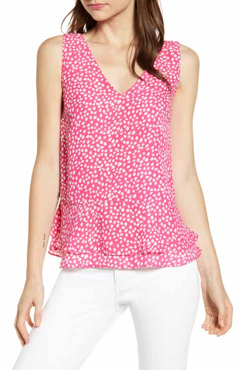 cbd879f940678f Gibson x Living in Yellow Willow Tiered Peplum Top (Regular   Petite)  (Nordstrom Exclusive).  56.00. Product Image. DUSTY PINK DARK