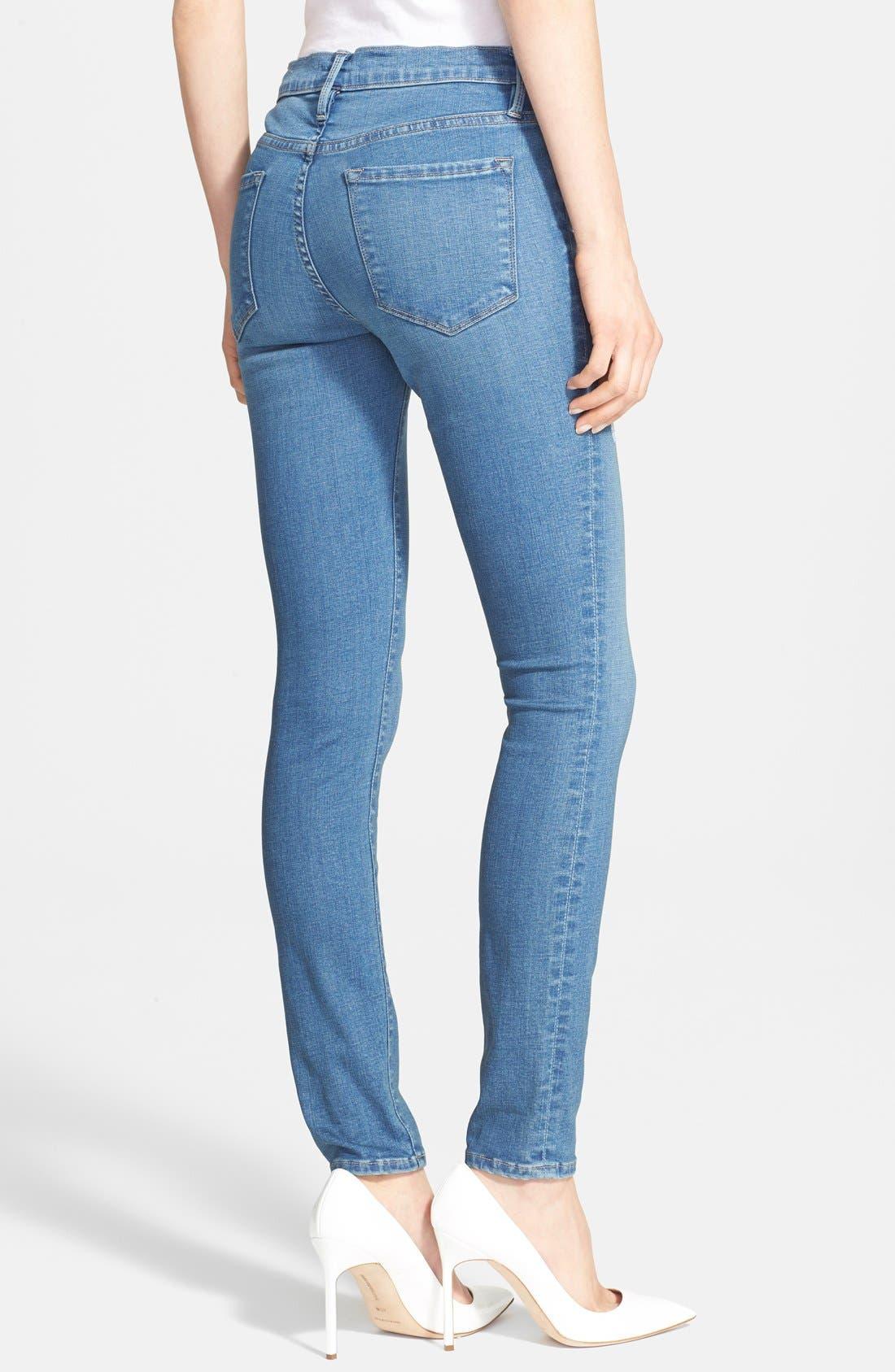 Alternate Image 2  - Frame Denim 'Le Skinny de Jeanne' Jeans (Alverstone) (Nordstrom Exclusive)