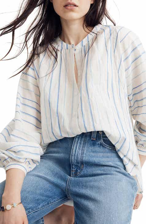 5189162e97769 Madewell Stripe Peasant Top