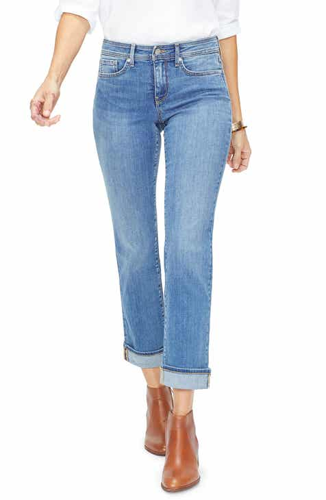 FRAME Le Sylvie High Waist Raw Hem Straight Leg Jeans (Overdrive) (Nordstrom Exclusive) by FRAME DENIM