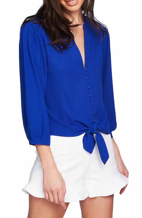 4531c4afee566 STATE Tie Front Blouse