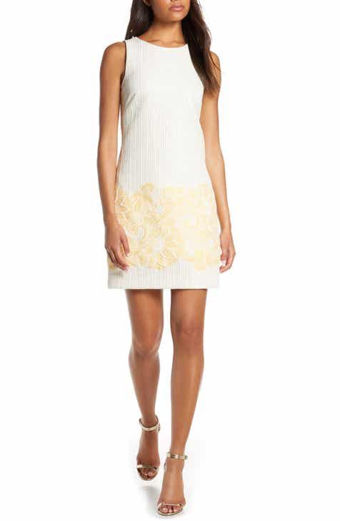 Vince Camuto Sleeveless Shift Dress (Regular & Petite)