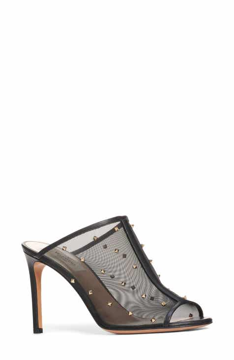 d034cfe5446 VALENTINO GARAVANI Studded Mesh Slide Sandal (Women)