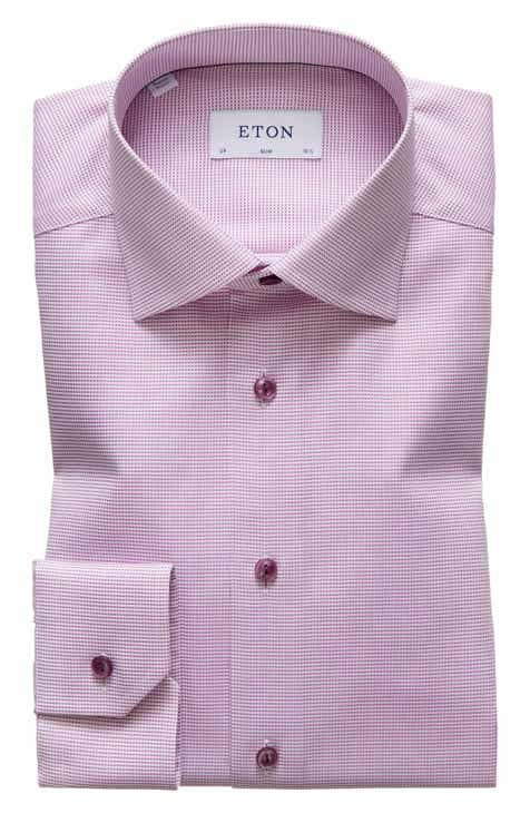 f02eb709053 Eton Slim Fit Solid Dress Shirt