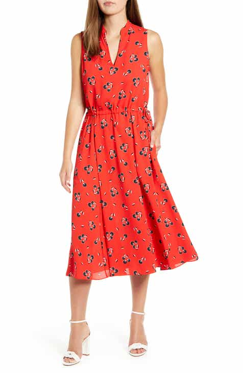 Anne Klein Tussy Mussy Sleeveless Drawstring Midi Dress by ANNE KLEIN