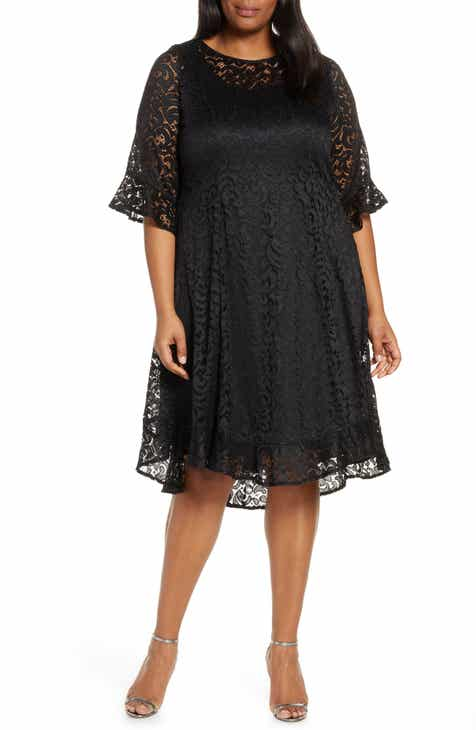 Kiyonna Livi Lace Cocktail Dress (Plus Size)