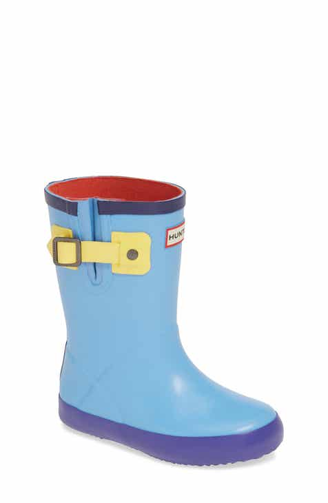 Hunter Buckle Strap Waterproof Rain Boot (Toddler)