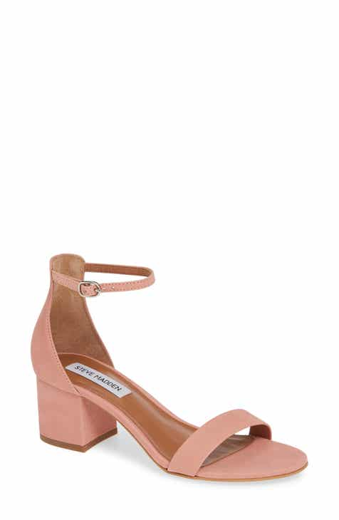 94221cad7 Steve Madden Irenee Ankle Strap Sandal (Women).  79.95. (600). Product  Image. BLACK LEATHER  NATURAL LEATHER  ROSE GOLD