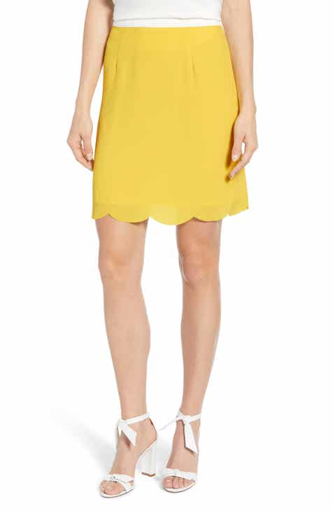 aa4f22a9769f Gibson x Living in Yellow Daphne Scallop Hem Skirt (Regular   Petite)  (Nordstrom Exclusive)