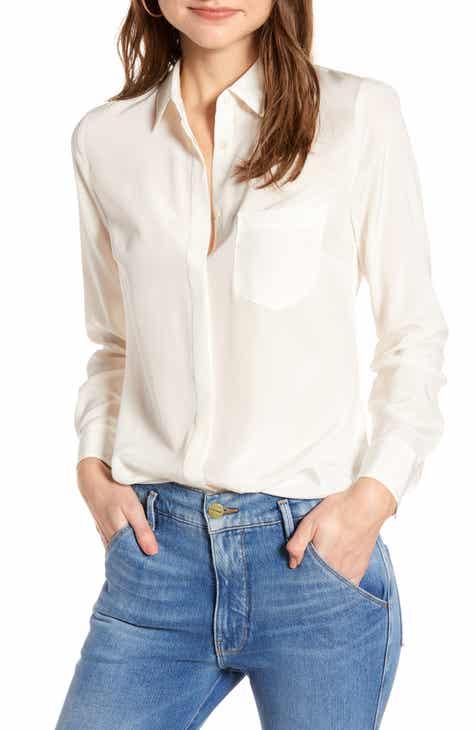 6d1d21852bf22 J.Crew Silk Button-Up Shirt (Regular   Plus Size)