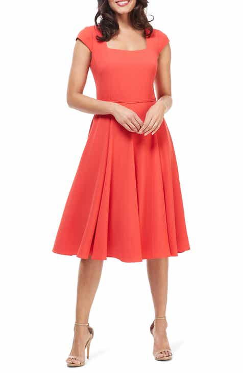 73b9b0f8d84 Gal Meets Glam Collection Regina Square Neck Fit   Flare Dress (Regular    Petite)
