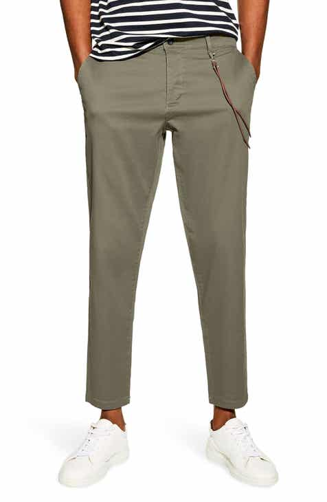 7d84a34bb1442 Topman Slim Fit Trousers With Cord Chain