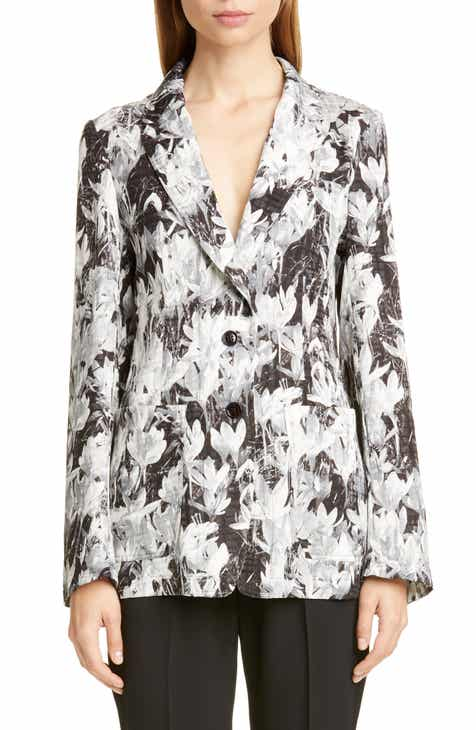 Dries Van Noten Bondovi Crocus Print Blazer by DRIES VAN NOTEN