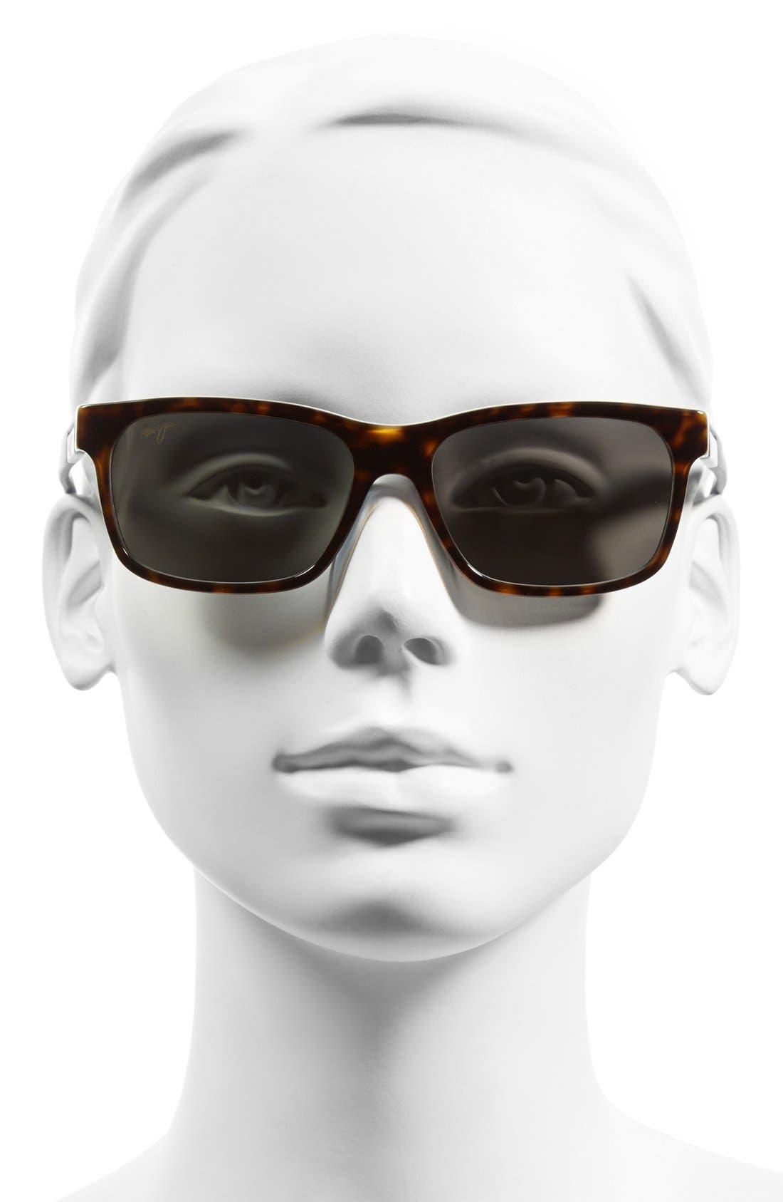 Eh Brah 55mm PolarizedPlus2<sup>®</sup> Sunglasses,                             Alternate thumbnail 2, color,                             Tortoise/ White And Blue/ Grey