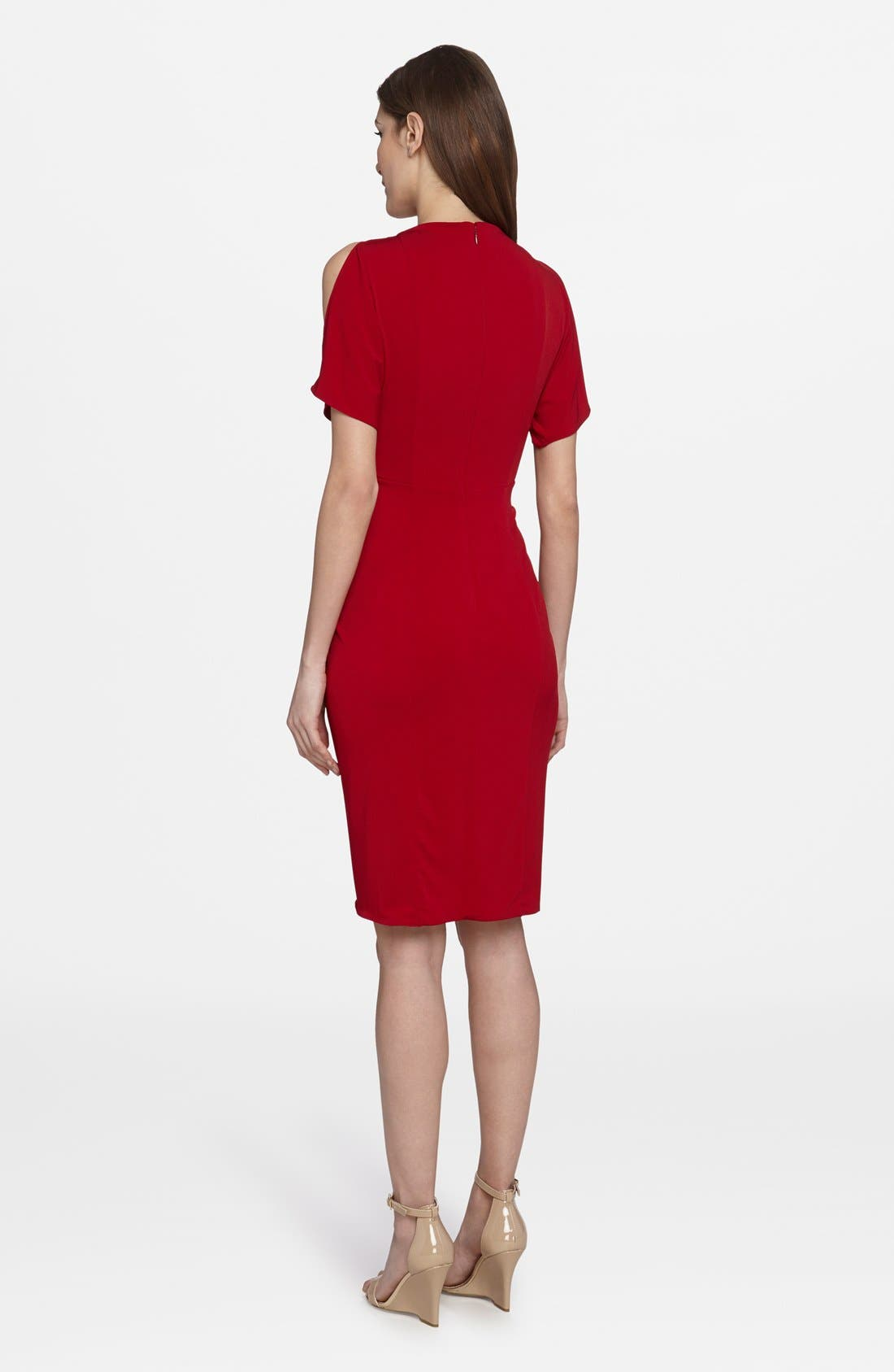 'Emily' Cold Shoulder Twist Front Dress,                             Alternate thumbnail 2, color,                             Boston