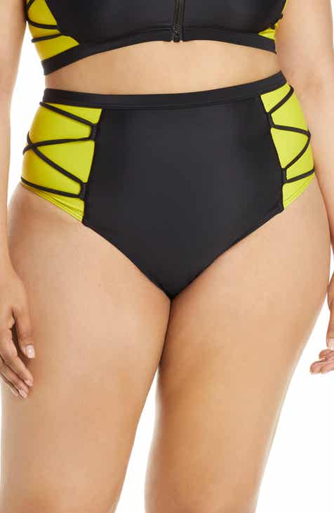 b3328f2decd Chromat Launch High Waist Bikini Bottoms (Plus Size)