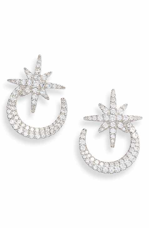 4d0787d94063 APM Monaco Meteorites de Noel Pavé Star Hoop Earrings