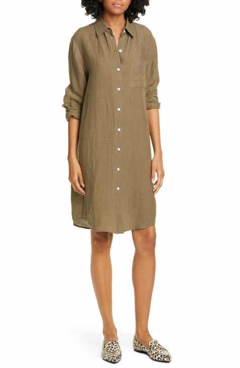 Jenni Kayne Long Sleeve Linen Shirtdress