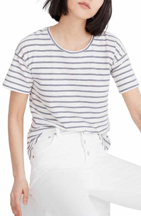 ac55fb7686f Madewell Whisper Cotton Stripe Crewneck Tee