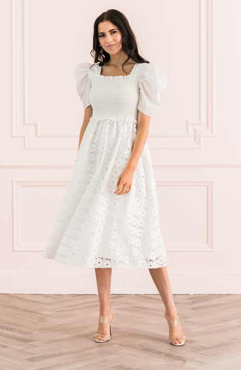 12a28e3db21909 Rachel Parcell Smocked Waist A-Line Dress (Nordstrom Exclusive)