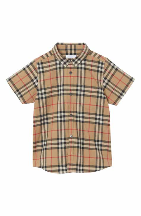 889a3f4d0ba7 Burberry Fredrick Plaid Woven Shirt (Toddler Boys, Little Boys & Big Boys)