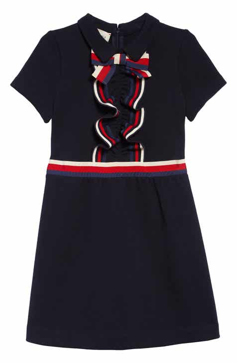 47669bf5 Gucci Ruffle Short Sleeve Dress (Little Girls & Big Girls)
