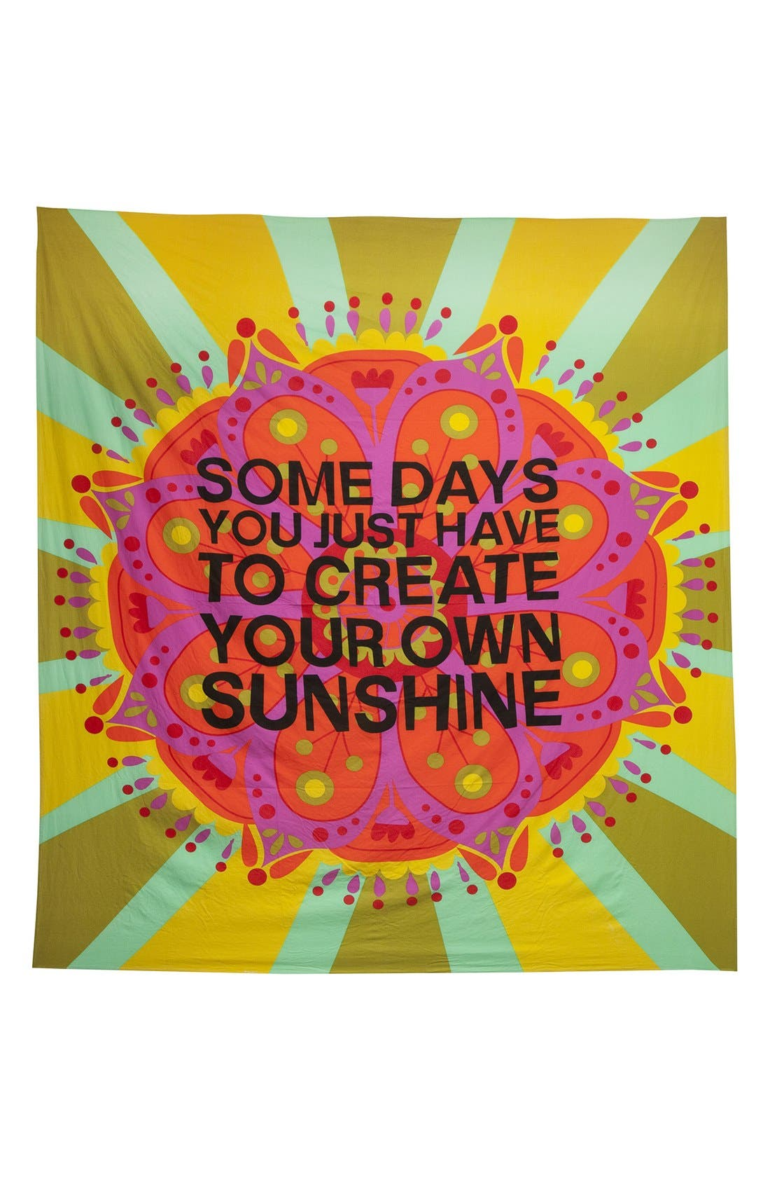 Alternate Image 1 Selected - Natural Life 'Create Your Own Sunshine' Lightweight Blanket