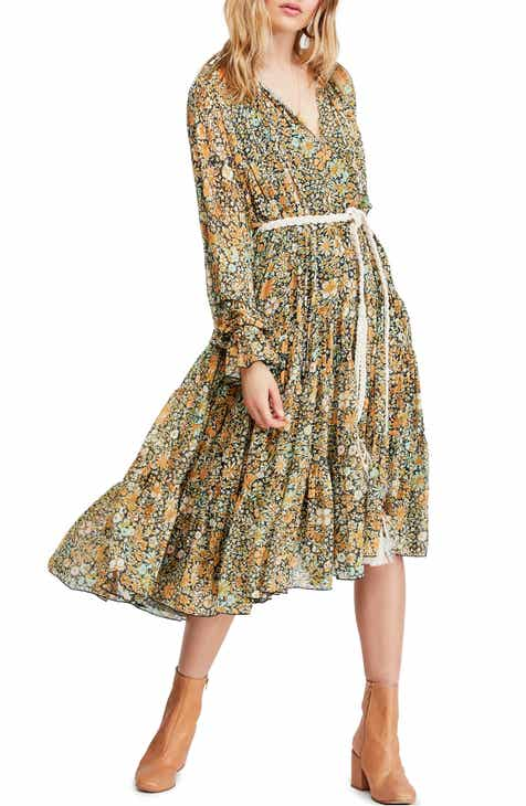 c7a4284262b851 Free People Feeling Groovy Long Sleeve Midi Dress