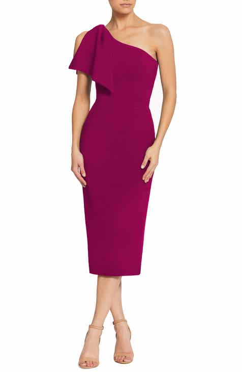 f1e093400f39 Dress the Population Tiffany One-Shoulder Midi Dress