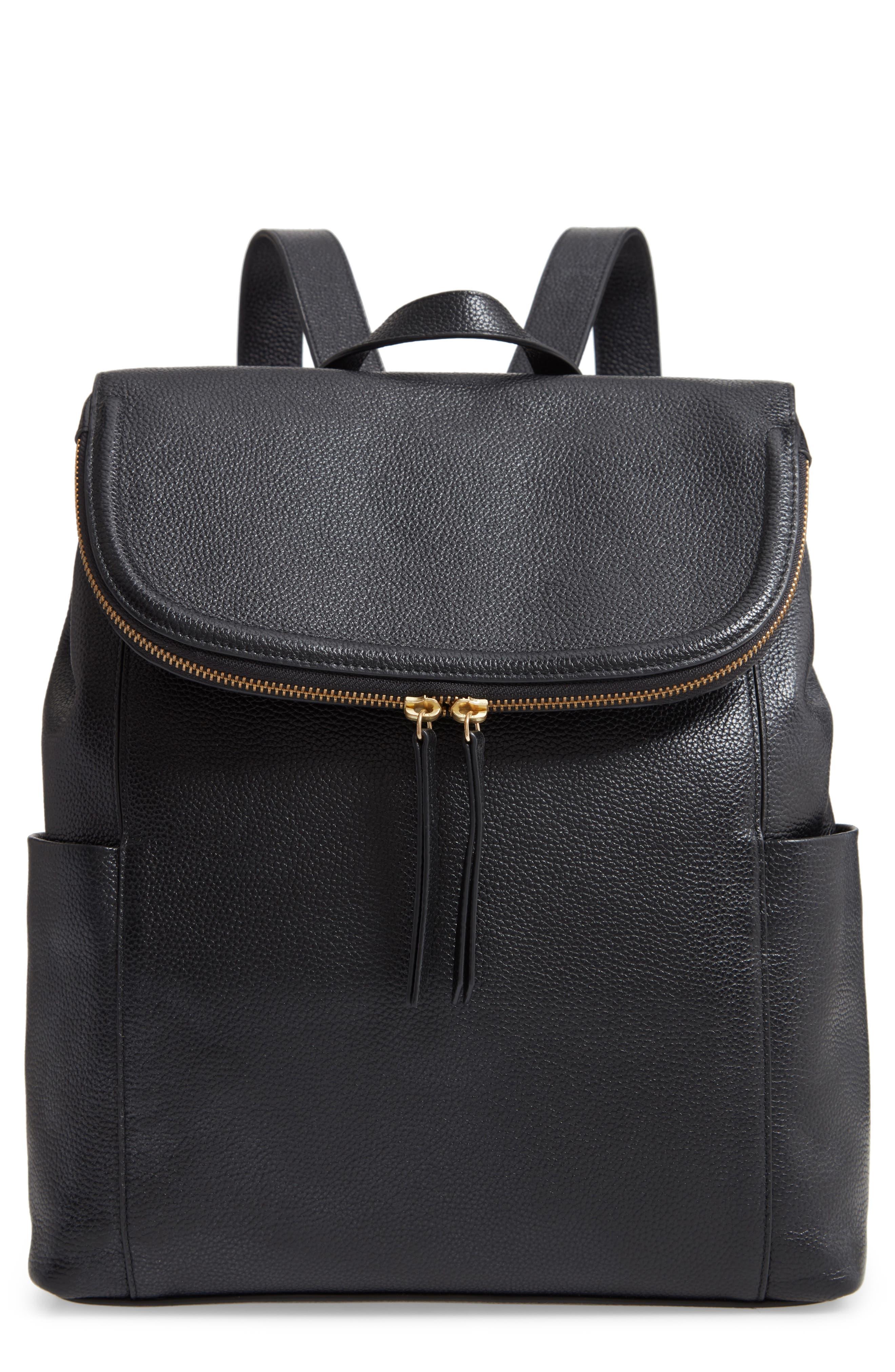 Womens FF LOGO Leather Backpack Shoulder Bag