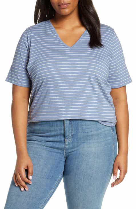 65231c253 Eileen Fisher Organic Cotton Short Sleeve Top (Plus Size)