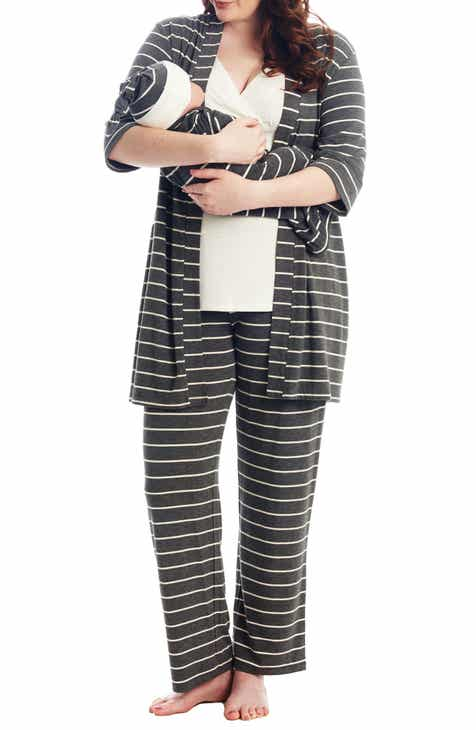5bdee9e9d8cde Everly Grey Analise During & After 5-Piece Maternity/Nursing Sleep Set