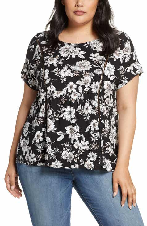 c5681d89f6be02 Gibson x Hot Summer Nights Two Peas Trimmed Swing Top (Plus Size)  (Nordstrom Exclusive)